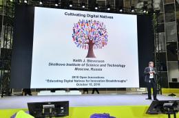 Keith Stevenson of Skoltech at the Open Innovations Forum