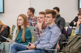Students at the discussion session
