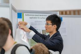 MIT's Alfred Zong, poster session participant